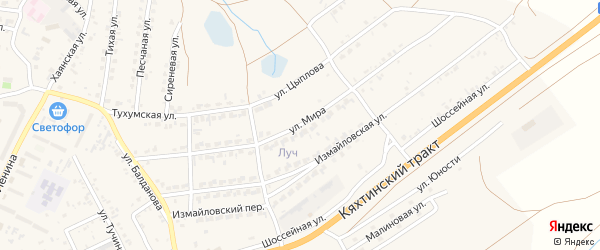 Улица Мира на карте поселка Тухума с номерами домов