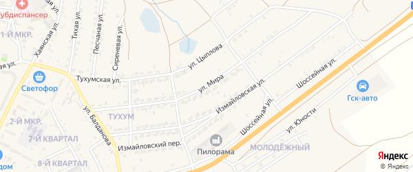Улица Мира на карте Гусиноозерска с номерами домов