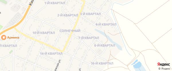 7-й квартал на карте Солнечного поселка с номерами домов