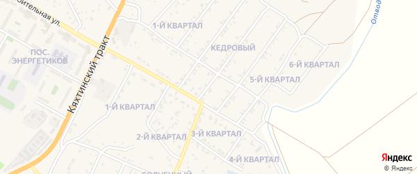 2-й квартал на карте Мирного поселка с номерами домов
