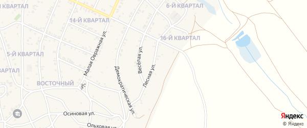 Лесная улица на карте Гусиноозерска с номерами домов