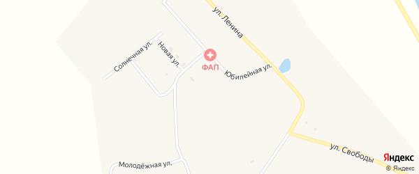 Октябрьская улица на карте села Большое Колесово с номерами домов
