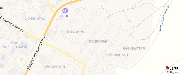 2-й квартал на карте Кедрового поселка с номерами домов