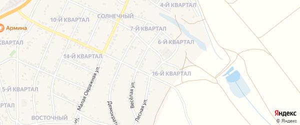 15-й квартал на карте Солнечного поселка с номерами домов