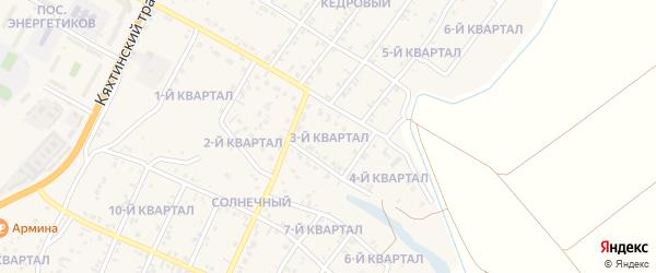 3-й квартал на карте Кедрового поселка с номерами домов