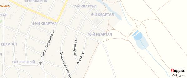 Лесной переулок на карте Восточного поселка с номерами домов