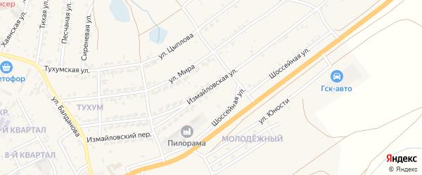 Измайловская улица на карте поселка Тухума с номерами домов
