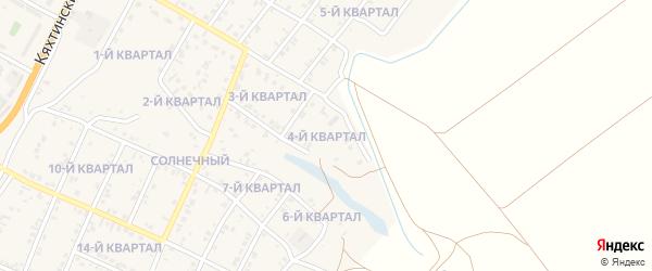 4-й квартал на карте Солнечного поселка с номерами домов