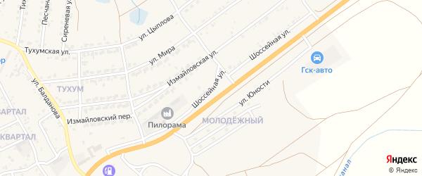 Шоссейная улица на карте Гусиноозерска с номерами домов