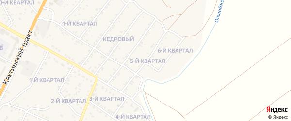 5-й квартал на карте Кедрового поселка с номерами домов