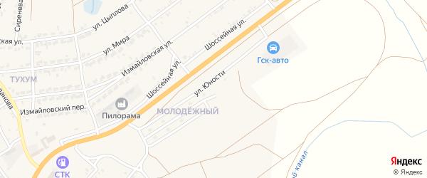 Улица Рябиновый переулок на карте Молодежного поселка с номерами домов