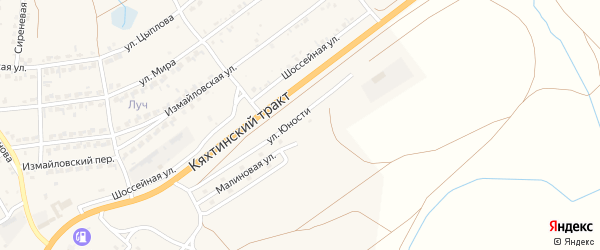 Рябиновая улица на карте Молодежного поселка с номерами домов