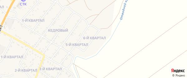6-й квартал на карте Кедрового поселка с номерами домов