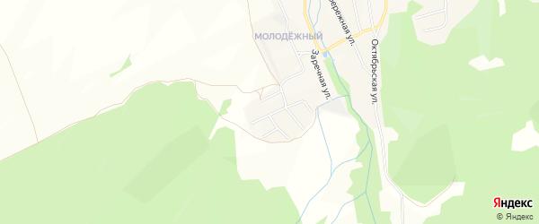 Карта села Тимлюя в Бурятии с улицами и номерами домов