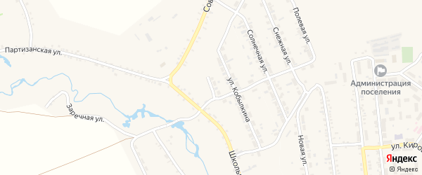 Звездный переулок на карте села Тимлюя с номерами домов