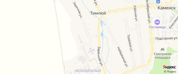 Заречная улица на карте села Тимлюя с номерами домов