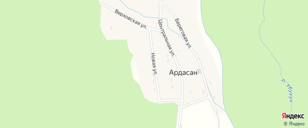 Новая улица на карте поселка Ардасана с номерами домов