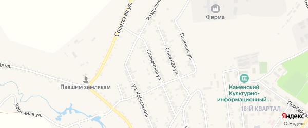 Солнечная улица на карте поселка Каменска с номерами домов