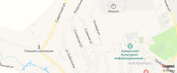 Снежная улица на карте поселка Каменска с номерами домов