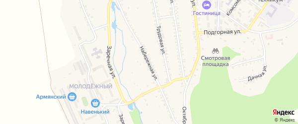 Набережная улица на карте села Тимлюя с номерами домов