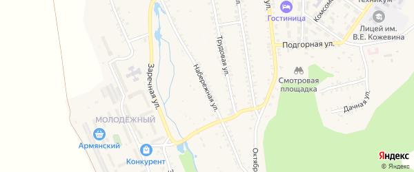 Набережная улица на карте поселка Каменска с номерами домов