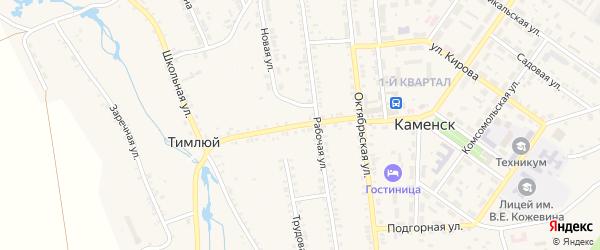 Школьная улица на карте села Тимлюя с номерами домов