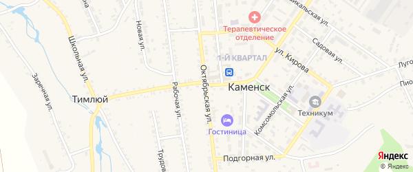 Школьная улица на карте поселка Каменска с номерами домов