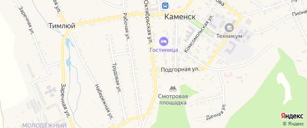 Октябрьская улица на карте поселка Каменска с номерами домов