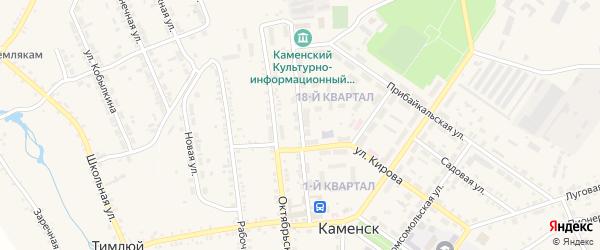 Улица Сухомлина на карте поселка Каменска с номерами домов