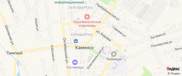Советская улица на карте поселка Каменска с номерами домов