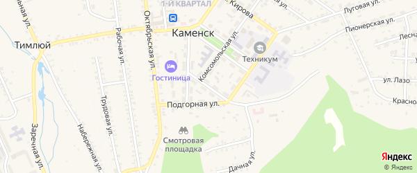 Первомайская улица на карте поселка Каменска с номерами домов