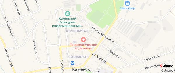 Почтовый переулок на карте поселка Каменска с номерами домов