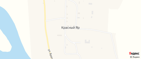 Полевая улица на карте села Красного Яра с номерами домов