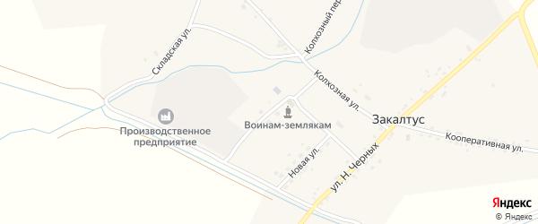 Клубная улица на карте села Закалтуса с номерами домов