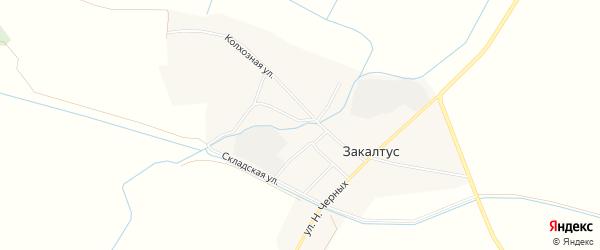 Карта села Закалтуса в Бурятии с улицами и номерами домов