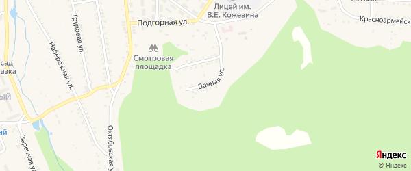 Дачная улица на карте поселка Каменска с номерами домов