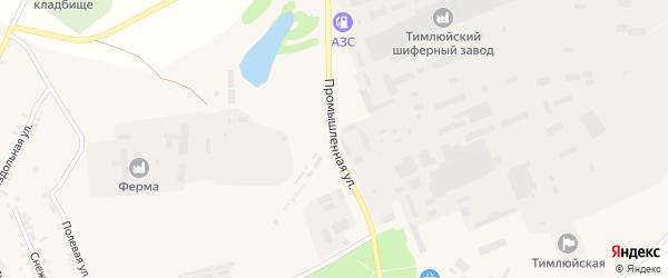 Промышленная улица на карте поселка Каменска с номерами домов