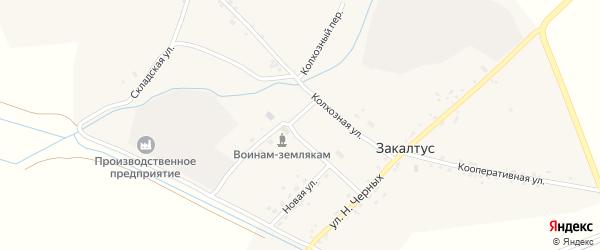 Улица Н.Черных на карте села Закалтуса с номерами домов