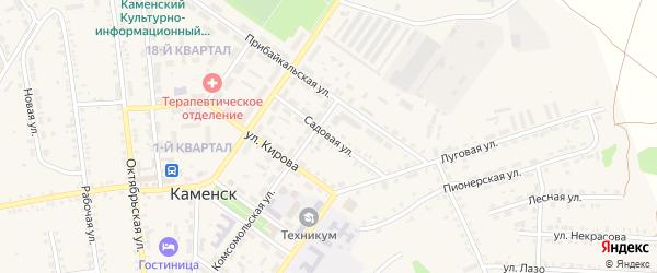 Садовая улица на карте поселка Каменска с номерами домов