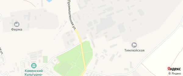 Улица Кожевина на карте поселка Каменска с номерами домов