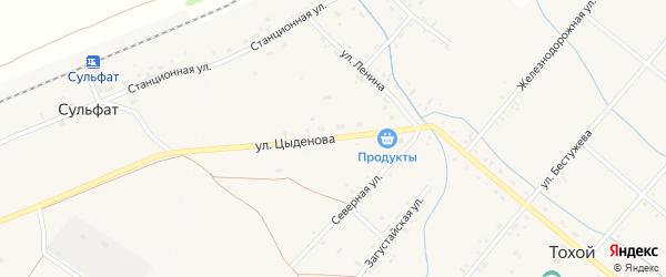 Улица Цыденова на карте Тохой улуса с номерами домов