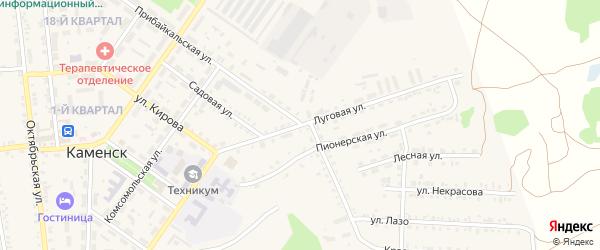 Луговая улица на карте поселка Каменска с номерами домов