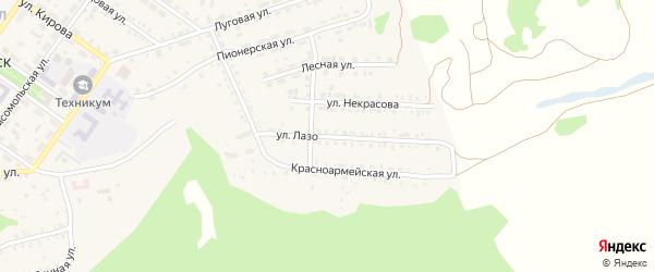Улица Лазо на карте поселка Каменска с номерами домов