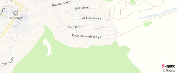 Красноармейская улица на карте поселка Каменска с номерами домов