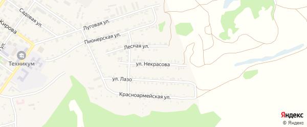 Улица Некрасова на карте поселка Каменска с номерами домов