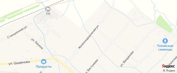Железнодорожная улица на карте Тохой улуса с номерами домов