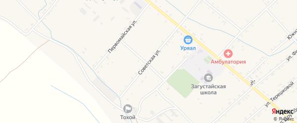 Советская улица на карте Тохой улуса с номерами домов