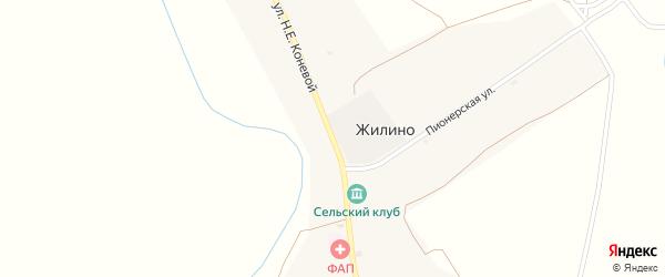 Улица Коневой Н.Е. на карте села Жилино с номерами домов