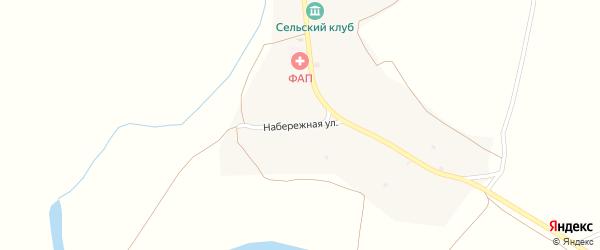 Набережная улица на карте села Жилино с номерами домов