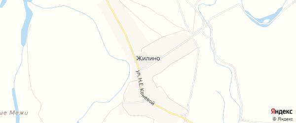 Карта села Жилино в Бурятии с улицами и номерами домов